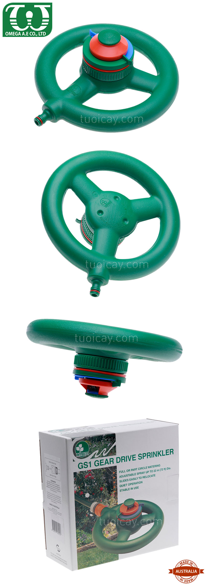 bec tuoi cay Gear Drive Sprinkler 2