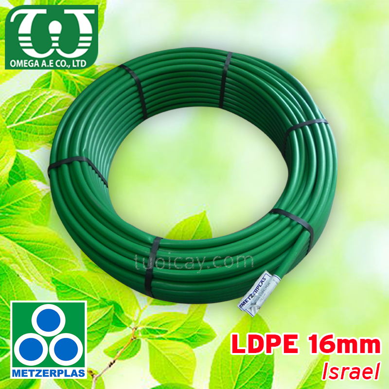 Ống LDPE 16mm (Green) - Israel